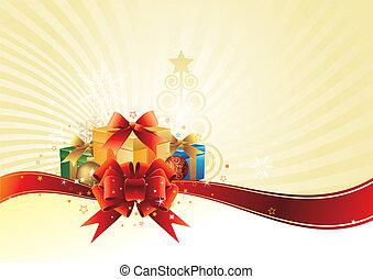插圖, 矢量, 聖誕節, gi