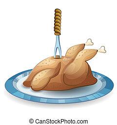 揚げられている, 感謝祭トルコ