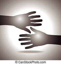 握手しなさい