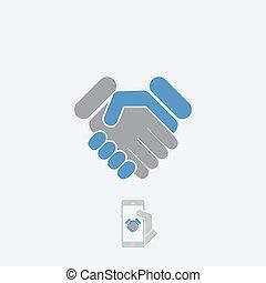 握手, アイコン