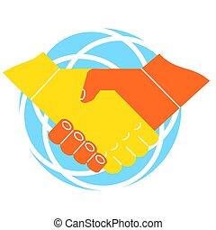 握手, イメージ, ビジネス 関係