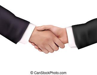 握手, イラスト
