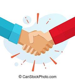 握手, イラスト, 歓迎, 合意, イメージ, 協力, 握手しなさい, 友情, デザイン, 隔離された, 手, 成功, 平ら, 取引, 漫画, ベクトル, 現代, 概念, ジェスチャー, ∥あるいは∥