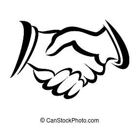 握手, シンボル