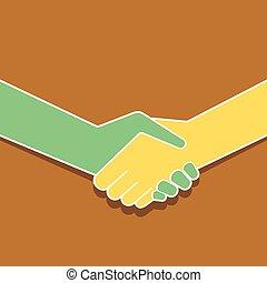 握手, デザイン, アイコン