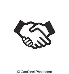 握手, ベクトル, アイコン