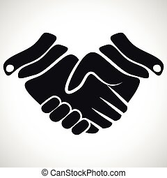 握手, ベクトル, イラスト, アイコン