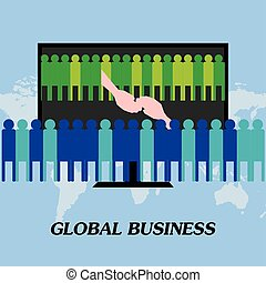 握手, 世界的である, 会社, 合意