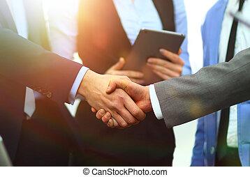 握手, 事務, 辦公室