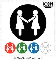 握手, 人々, アイコン