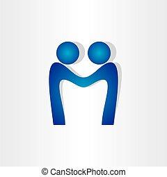 握手, 人々, m, 合意, 手紙, アイコン