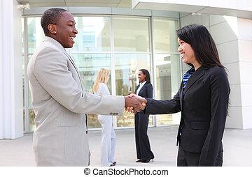 握手, 多様, ビジネス チーム