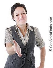 握手, 女性ビジネス, 提供