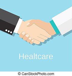 握手, 患者, 医者
