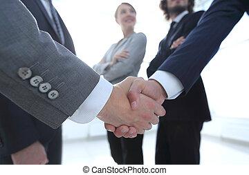 握手, 概念, ビジネス 人々