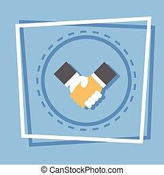 握手, 概念, ビジネス 取り引き, 合意, アイコン