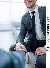 握手, 歓迎, ビジネス 人々