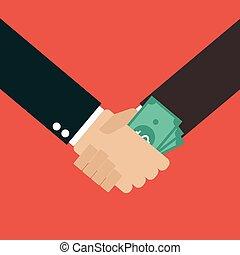 握手, 汚職, ビジネス
