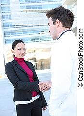 握手, 病人, 醫生