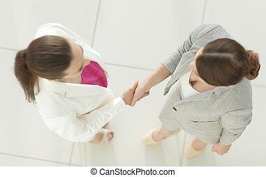 握手, ......的, 二, 女商人
