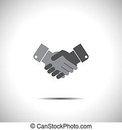 握手, 矢量, 圖象