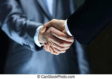 握手, 背景, -, 手, 黒, 保有物
