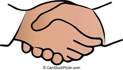 握手, 芸術, 合意, 契約, 2, バックグラウンド。, ベクトル, 手, 白