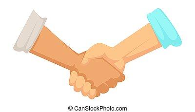 握手, 袖, 取引, 合意, 印, 手, マレ