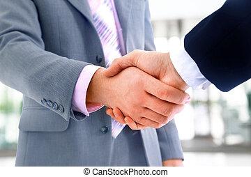 握手, 被隔离, 辦公室