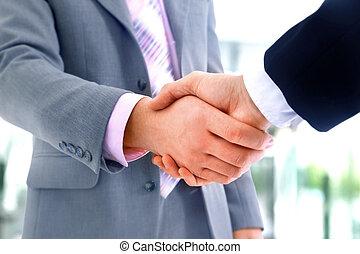 握手, 辦公室