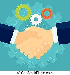握手, 2つの手