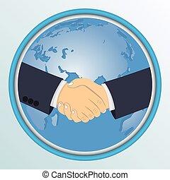 握手, globe., 背景