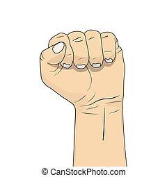 握緊拳頭, 插圖