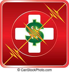 援助, 医学, コスト, シンボル, 最初に