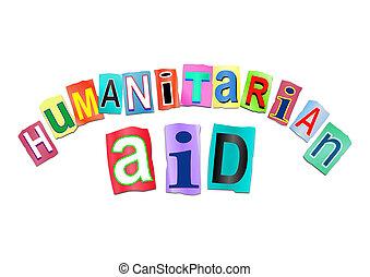 援助, concept., 人道主義者