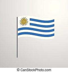 揺れている旗, ウルグアイ