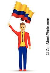 揺れている旗, コロンビア, 人