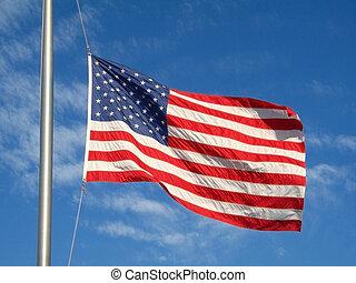 揺れている旗