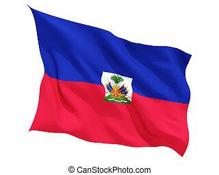 揺れている旗, ハイチ