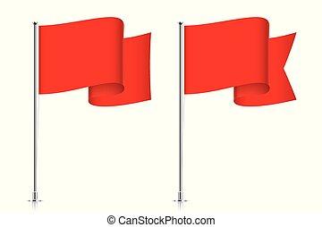 揺れている旗, 赤, templates.