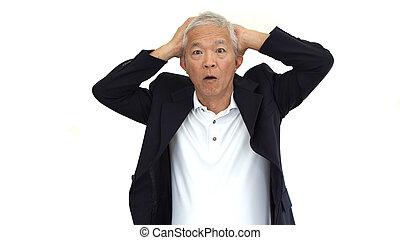 損失, ビジネス, 利益, 怒る, 叫ぶこと, アジア人, シニア, 抽象的, 人