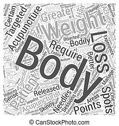 損失, 概念, 単語, 効果的である, 重量, 刺鍼術, 雲