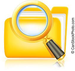 搜尋, 文件夾, 圖象