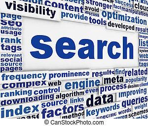 搜尋, 消息, 概念性, 設計