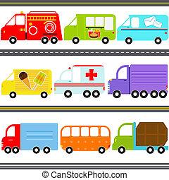搬運車, 車輛, 卡車, /, 貨物