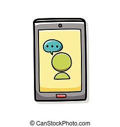 携帯電話, いたずら書き