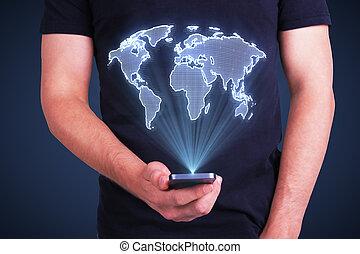 携帯電話, ∥で∥, デジタル世界, 地図
