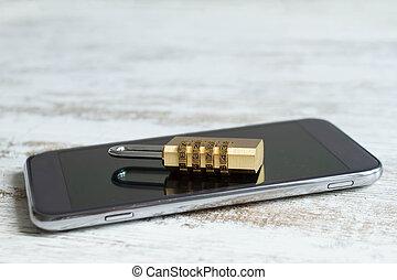 携帯電話, セキュリティー, ロックされた