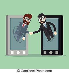 携帯電話, ビジネス 取り引き