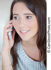 携帯電話, 女性, 若い